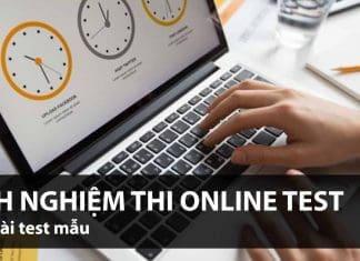 Kinh nghiệm thi Online Test - Management Trainee (Quản trị viên tập sự)