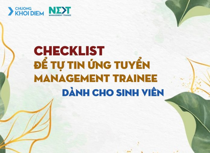 chuong khoi diem next management trainee CHECKLIST chuẩn bị management trainee.jpg