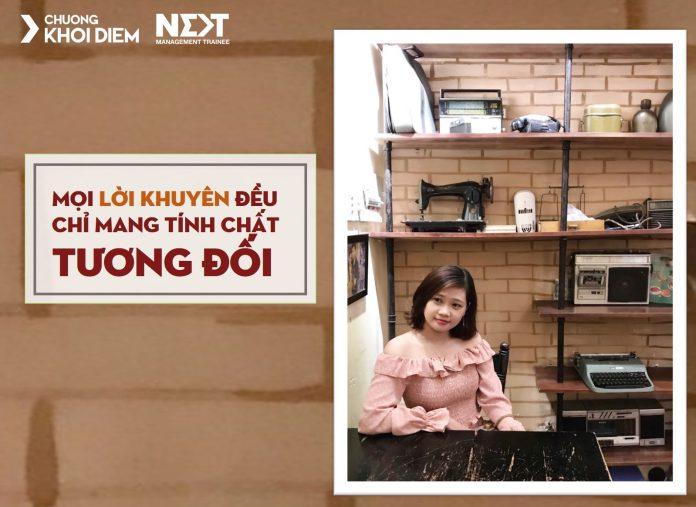 chuong khoi diem next management trainee moi loi khuyen chi mang tinh chat tuong doi