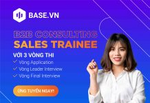 Base Consulting Sales Trainee FB post